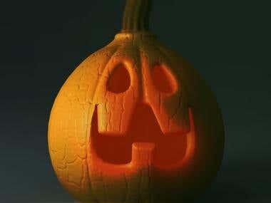 helloween 3D pumpkin