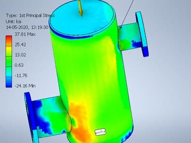 FEA Simulation of Pressure Vessel