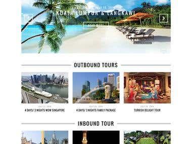 Responsive Web Design for a Tour Operator.