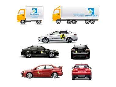 Banners, vehicle livery