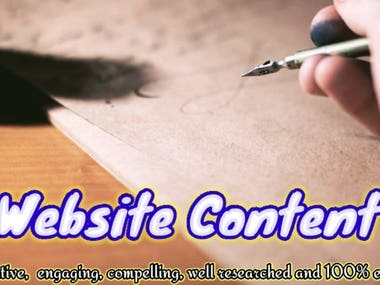 Website Content: Search Engine Optimization Services