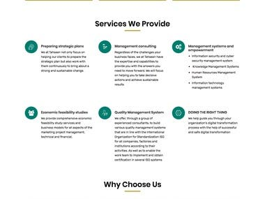 Consulting Company Website (Tahseen Consulting)