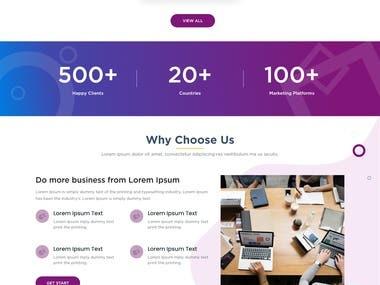 B2B lead generation website