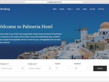Wordpress Hotelbooking website