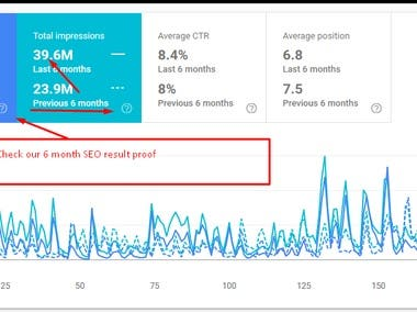 6 Month SEO result proof