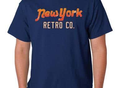 T-Shirt design for Retro Jeans