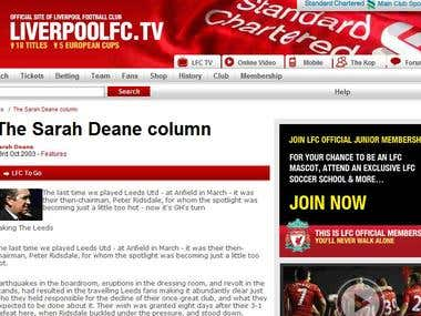 The Sarah Deane Column - Liverpool Football Club