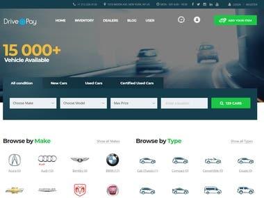 Motors Theme Based website driveandpay.com.au