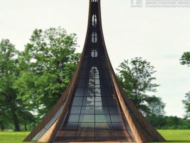 3D luxury Tent design
