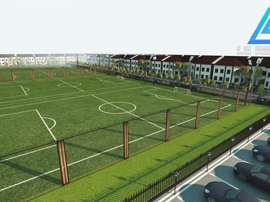 Soccer play area project design