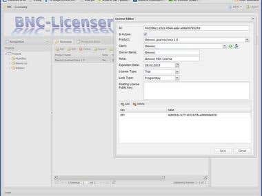 BNC Licenser