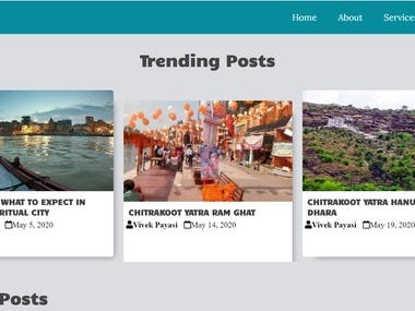 News blog with various categories articles
