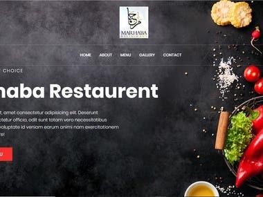 Restaurent web app