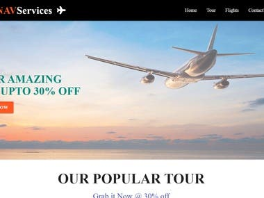 Online tour and flight booking web app