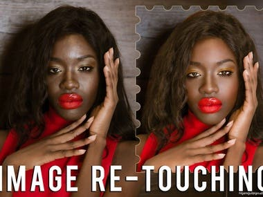 Image re-touching, colour correction