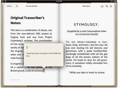 PDF to epub Conversion (Apple ibooks)