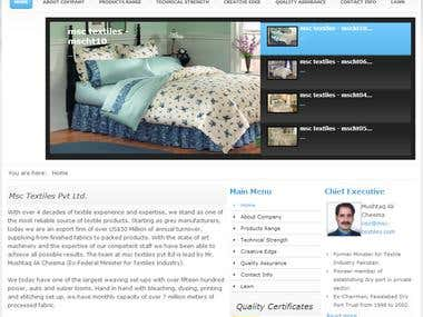 msc textiles pvt ltd.. Joomla Website
