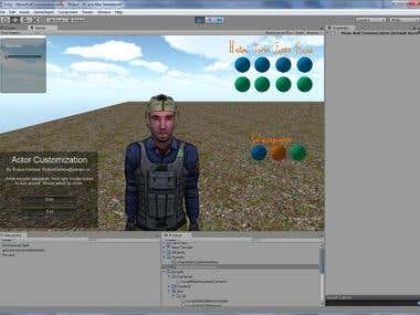 Actor Customization in Unity3D