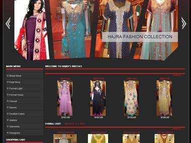 Hajra Dresses Joomla Virtuemart Website