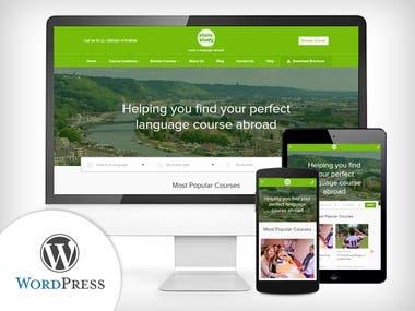 Language Courses Website Developed in WordPress