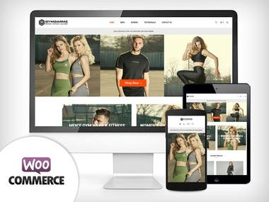 Woocommerce - Gym Clothing E-commerce Website