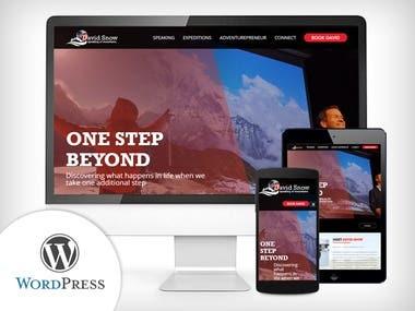 WordPress - Mountains Adventure & Speaker Website