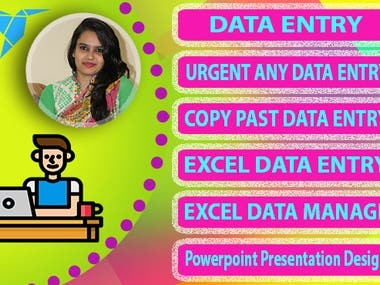 I will do data entry work, excel work for any organization.