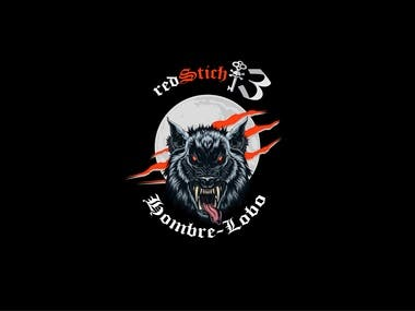 Red Stich 13 Logo design
