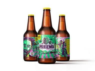 etiqueta cerveza artesanal craft beer