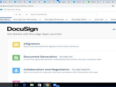 Docusign Integration With salesforce