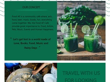 Food af. Web Design