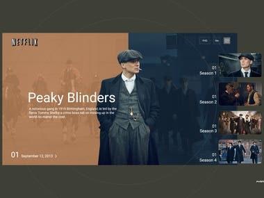 Peaky Blinders Webpage Design