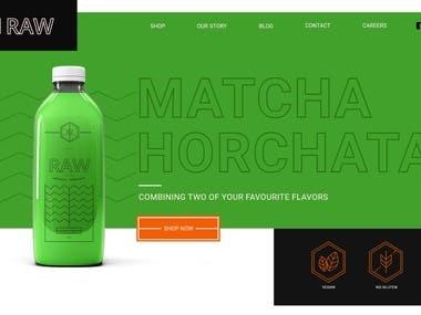 Raw Webpage Design