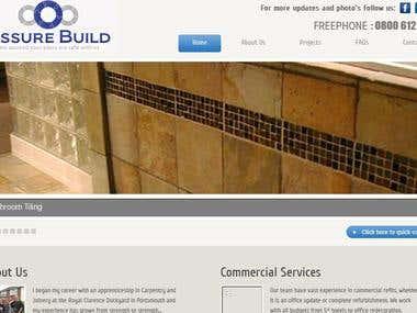 Assure Build website design