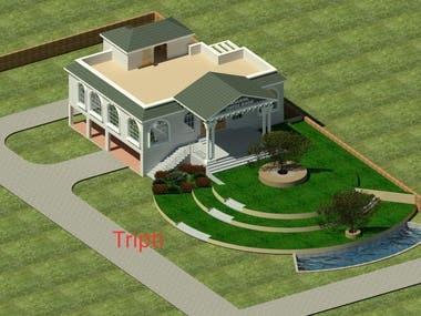 Building Exterior & Interior 3D design