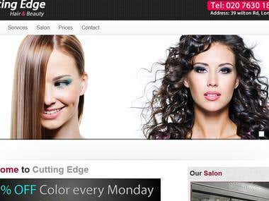 Hair Salon static website with a professional look