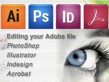 Editing adobe photoshop, illustrator, indesign or PDF