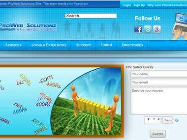 prowebsolutionz A joomla website