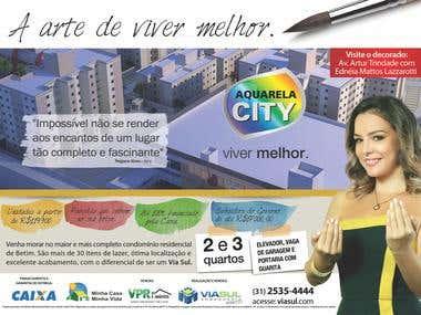 Anúncio Jornal - Campanha Aquarela City