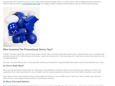 Blog piece for promotional products website