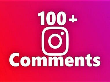 Add 100 CUSTOM comments to any instagram post increase your