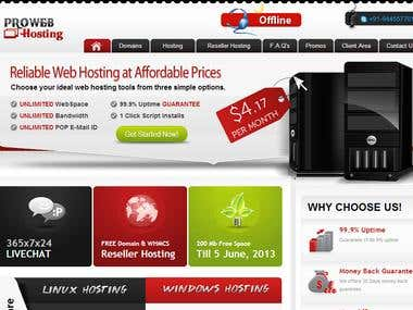 WHMCS TEMPLATE on http://hosting.prowebsolutionz.com/