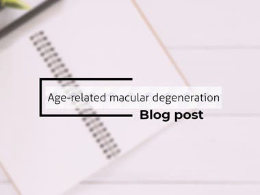 Age-Related Macular Degeneration - Blog post