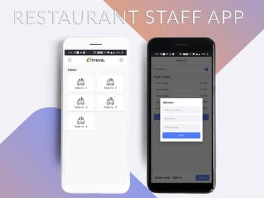 Restaurant staff management application