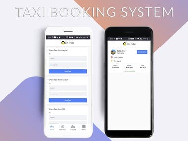 Intercity taxi booking solution