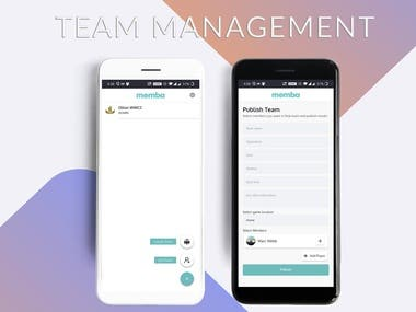 Team and match management application