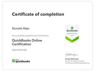 Intuit Quickbooks Pro Advisor Certificate