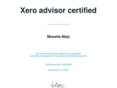 Xero Pro Advisor Certificate