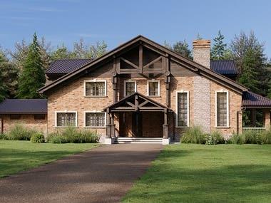 Exterior rendering - residence - Villa - Corona arch viz