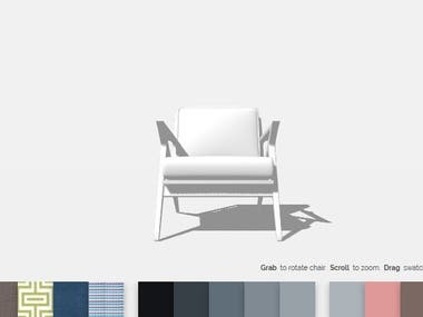 3D Chair configurator
